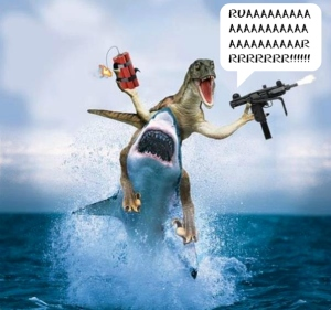 "This is dinosaur for, ""FUCK YEAH, SPEAKER7!"""