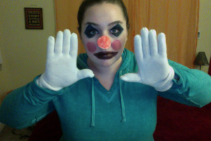 Dressing up like a clown is a totally normal way to spend a Friday night