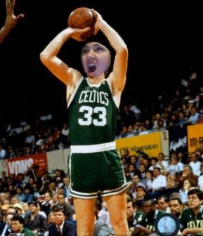 basketball, free throwing, shooting hoops, humor, meme, celtics, larry bird
