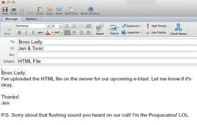 E-mail skillz