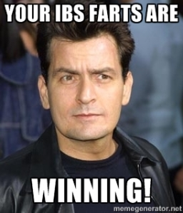 IBS, charlie sheen, humor, meme, winning, tiger's blood, fart, shart
