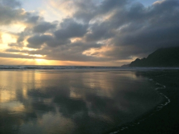 beach sunset, manzanita, oregon coast, oregon, coast, coastline, beach, sunset, pacific northwest, PNW